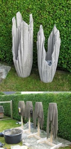 Garden Structures can be used to turn a garden into an outdoor living space and so much more. There are many options available for both big and small gardens diy easy garden ideas 36 Amazing Garden Structure Design Ideas Garden Crafts, Garden Projects, Diy Projects, Diy Crafts, Small Gardens, Outdoor Gardens, Do It Yourself Decoration, Concrete Crafts, Concrete Planters