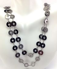 Fashion Brushed Silver Tone Long Donut Link Chain Necklace Jewelry http://www.ebay.com/itm/Fashion-Brushed-Silver-Tone-Long-Donut-Link-Chain-Necklace-Jewelry-/141622289413?hash=item20f958a405