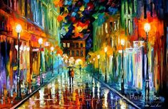 Leonid Afremov Romantic Evening oil painting reproductions for sale