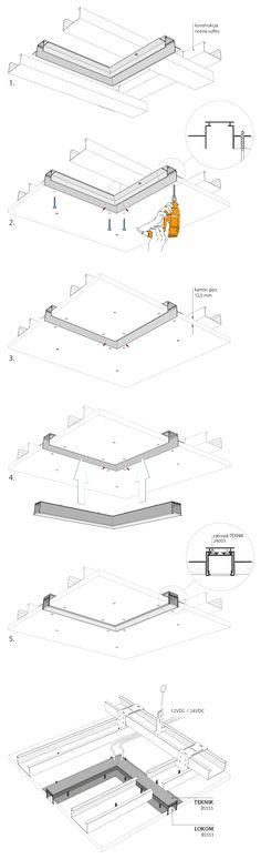 Examples » Kluś Design - oświetlenie, profile led, oprawy, akcesoria. Hidden Lighting, Cove Lighting, Strip Lighting, Interior Lighting, Lighting Design, Ceiling Detail, Ceiling Design, Media Room Design, Luminaire Led