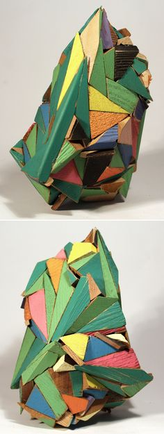 New work from artist Aaron S. Moran, based here in Vancouver and the Fraser Valley.   Sculpture, wood block, color theory