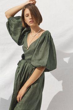 All That Remains - Lia Linen Wrap Dress Forest Green – Aquelarre Shop Wrap Dress, Dress Up, Dresses For Sale, Summer Dresses, Linen Dresses, Fashion Outfits, Womens Fashion, Gothic Fashion, Style Inspiration