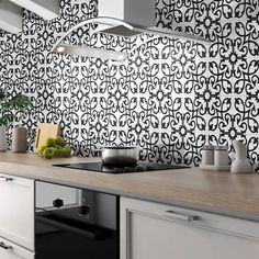 Shop for Handmade Agadir in White and Black Tile, Pack of 12 (Morocco). Get free delivery On EVERYTHING* Overstock - Your Online Home Improvement Shop! Kitchen Tiles, Kitchen Countertops, New Kitchen, Diy Kitchen Projects, Cabin Kitchens, Black Tiles, Tile Installation, Color Tile, Types Of Houses