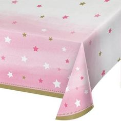 Twinkle Twinkle Little Star Theme Baby Shower; Pink Tablecloth; Ballerina Theme Event; Girls Birthday Party; Table Cloth Table Decorations by SimplyCreatedForYou6 on Etsy