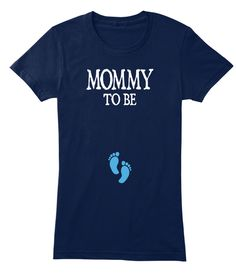 Mommy To Be Navy Women's T-Shirt Front