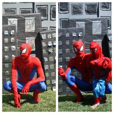 How neat would it be to have someone i know dress up as Spider-Man to make an appearance at Trent's party?!