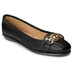 Women's A2 by Aerosoles In Between Perforated Loafers - Black 10.5W