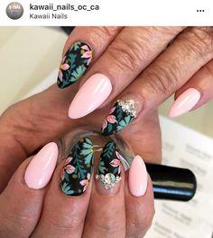 Cute Nail Art, Cute Nails, Pretty Nails, Vacation Nails, Strong Nails, Luxury Nails, Nail Envy, Gel Nail Designs, Flower Nails