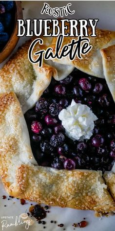 Get the recipe for this rustic Blueberry Galette (or Crostata) made from fresh blueberries and store bought pie crust.This tart is like making a pie, but much easier! Easy No Bake Desserts, No Bake Treats, Best Dessert Recipes, Sweets Recipes, Fun Desserts, Delicious Desserts, Vegetarian Desserts, Fruit Dessert, Blueberry Cookies
