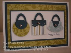 Stamping Up Punch Art Baby | this card is simply made using dsp and punches to create little ...