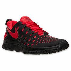 Men's Nike Free Trainer 5.0 Cross Training Shoes | FinishLine.com | Black/University Red