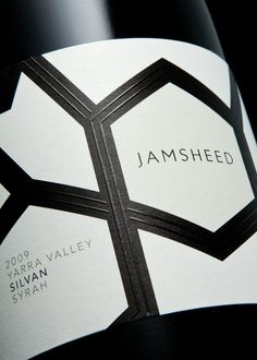 Packaging design with raised thermographic ink detail by Cloudy Co. for Yarra Valley boutique wine label Jamsheed #taninotanino