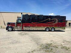 Sweet. Show Trucks, Big Rig Trucks, Custom Big Rigs, Custom Trucks, Motorhome Conversions, Cool Rvs, Coach Travel, Rv Truck, Luxury Rv