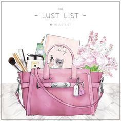 THE LUST LIST X COACH | I've customised my @Coach Swagger with flowers, my favourite beauty products and a great book, so it's just like my swagger. #WhatsYourSwagger #thelustlist