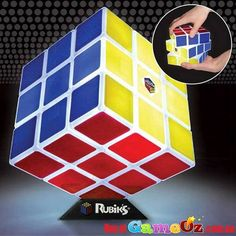 Rubiks+Cube+Light+Electronic+Puzzle+Game  This+is+lighting+with+a+twist!+Play+the+classic+Rubik's+Cube+puzzle+game+with+this+light+up+Rubik's+cube.+It+features+super+bright+illumination+that+lasts+for+up+to+two+hours.+It+is+USB+rechargeable+and+ieven+comes+with+it's+own+stand.  Cube+Measures:+12cm+x+12cm  USB+Cable+Length:+1.2+m  Ages+8+