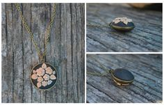 Charming pendant modeling clay in bronze frame by YapokBags