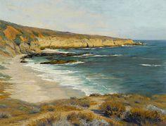 Charles Partridge Adams (American, 1858-1942) Coastal scene 23 x 30in overall: 30 x 37in