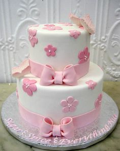 baby shower cake, or girl's birthday