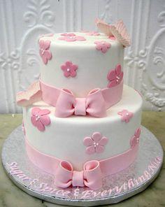 baby shower cake, or girl's birthday