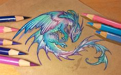 Water pearl dragon by AlviaAlcedo.deviantart.com on @DeviantArt