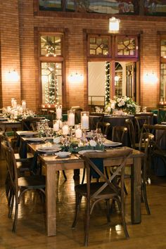 Photography : Artistrie Co | Floral Design : Vale Of Enna | Reception Venue : Cafe Brauer | Wedding Planning : La Belle Fleur Events Read More on SMP: http://www.stylemepretty.com/illinois-weddings/chicago/2017/01/27/urban-glam-winter-wedding/