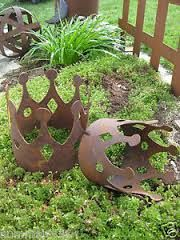 edelrost engel mit stern auf stab rost eisen metall deko pute, Gartenarbeit ideen