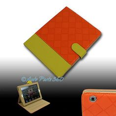 CASE COVER POUCH STAND WAKE/SLEEP PU LEATHER ORANGE/YELLOW FOR APPLE IPAD MINI