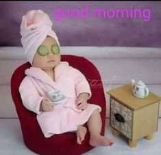 Image may contain: 1 person Morning Memes, Funny Good Morning Quotes, Good Morning Images, Cute Baby Girl Pictures, Funny Pictures, Funny Babies, Cute Babies, Cute Baby Videos, Baby Memes