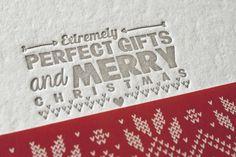our lettepress christmas postcard