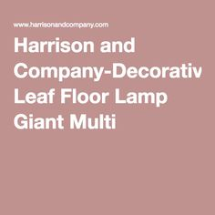 Harrison and Company-Decorative Leaf Floor Lamp Giant Multi