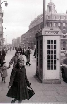Middle Abbey Street, Dublin, Ireland. 1959