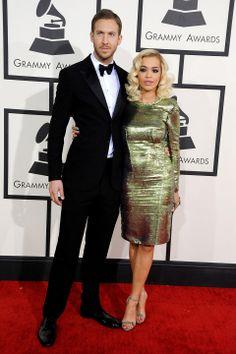 Rita & Calvin squash break-up rumours at the Grammys