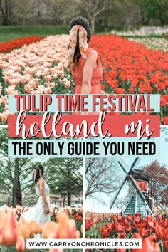 Are you looking to discover beautiful tulip fields in the US? Then you can't miss Tulip Time in Holland, Michigan! As the largest tulip festival in the country, this annual event celebrates Dutch heritage and is one of the best things to do in Michigan in spring. Whether you're planning a fun family vacation or seeking an Instagram-worthy spring photoshoot setting, you'll take your Michigan bucket list to the next level at this Insta-famous tulip festival! #tuliptime #holland #windmillisland Best Location, Photo Location, Travel Usa, Travel Tips, Travel Ideas, Centennial Park, Tulip Festival, Best Family Vacations, Michigan Travel