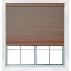 Redi Shade 61.75-In W X 72-In L Mocha Light Filtering Cellular Shade Z