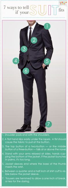 7 Ways to Tell If His Suit Fits