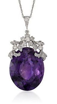 Our birthstone is the amethyst. You could wear a necklace that has it to incorporate the purple into your look. My amethyst stone ring changes color in different lighting. Nope, not a mood ring! One real precious amethyst, Purple Jewelry, Amethyst Jewelry, Diamond Jewelry, Amethyst Necklace, Amethyst Birthstone, Diamond Necklaces, Gemstone Earrings, Body Jewelry, Fine Jewelry