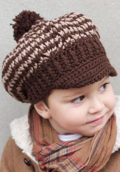 Free Crochet Pattern For Newsboy Hat : 1000+ images about Crochet Newsboy on Pinterest Newsboy ...