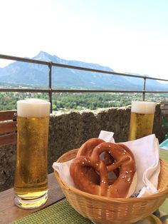Things to do in Salzburg: Enjoy a pretzel and beer at the castle | Southern Flair #salzburg #austria #southernflair #travel