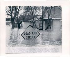1975 Lansing Michigan Magnolia St Following a Weekend Flooding Wire Photo