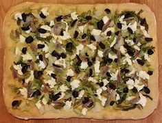 Pizza: Verza alici olive - Cabbage anchovies olives