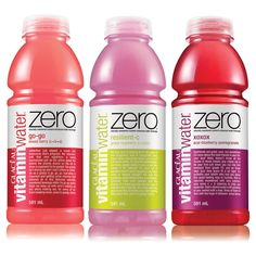 Vitamin Water Zero, sweetened with Stevia instead of sugar.