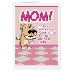 Cute, Funny Mother's Day: Adorable Card