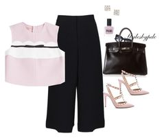 """I love Pink !!!"" by stylesbypdc ❤ liked on Polyvore featuring TIBI, Thierry Lasry, Giambattista Valli, Hermès, Valentino, Anita Ko and RGB Cosmetics"