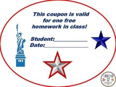 """Use these free homework passes in your ENL, Special Ed. or General Ed.class as an incentive, reward for good character or prize for a game winner. There are twelve """"ink friendly"""" passes to get you started. If you are purchasing this product please view my Terms of Use located in my store: www.teacherspayteachers/Store/Urbino12"""