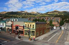 Breckenridge, Colorado still has many of the original building that housed hotels, dance halls, and saloons in the 1800s
