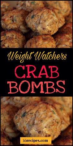 Best Crab Bombs Crab meat is one of the most delicious meats out there. I make at least 4 to 5 crabmeat recipes a month. These are my famous crab bombs, check out the recipe. Weight Watchers Snacks, Plats Weight Watchers, Weight Loss, Tapas Recipes, Ww Recipes, Fish Recipes, Seafood Recipes, Cooking Recipes, Recipes