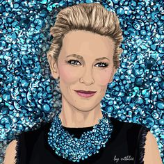 #art #fashion #inspiration #love #illustration #outfit #dress #beautiful #oscars #cateblanchett #blanchett #digitalart #digital #graphicdesign #madewithwacom #wacom
