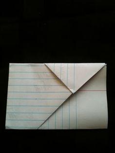 middle school flashback - note folding