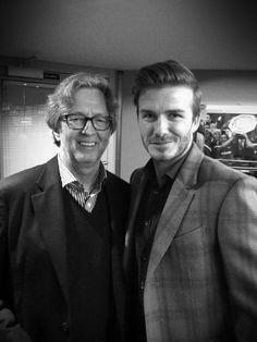 Eric Clapton with David Beckham