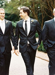 Classic and Polished Grooms | Men always look better when they have a suit on.